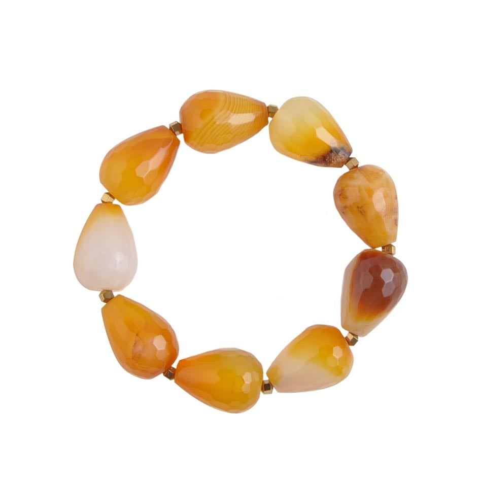 Drops of Harvest  Stretch Bracelet