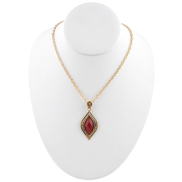 Cleo Raspberry Quartz Necklace