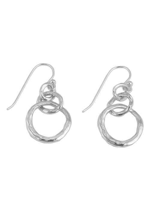 Hammered Ring Earring-Sterling Silver