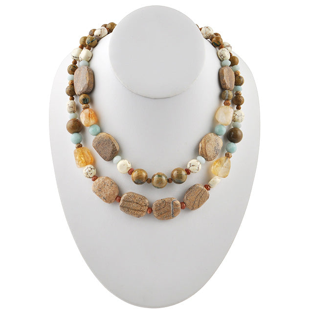 GeoPlanet Stone Necklace