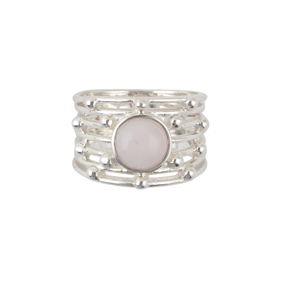 Seventh Heaven Ring-Pink Opal