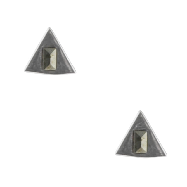 Flag Day Silver Earring
