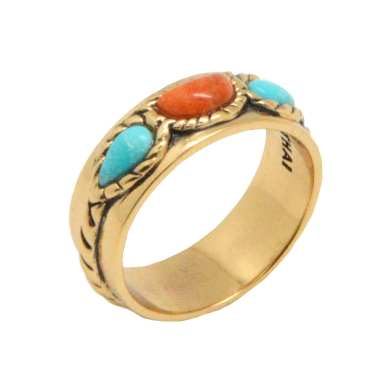 Triple Stone Simplicity Ring-Bronze