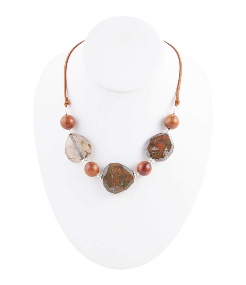 String It Along - Blue Brown Agate