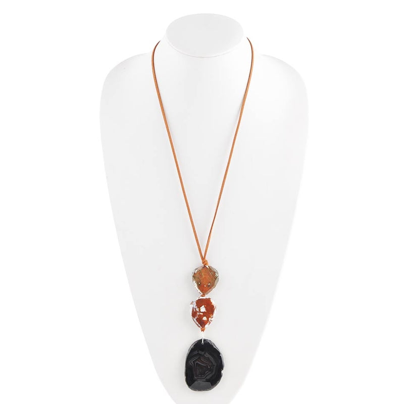 Graduation Day Necklace-Black Agate