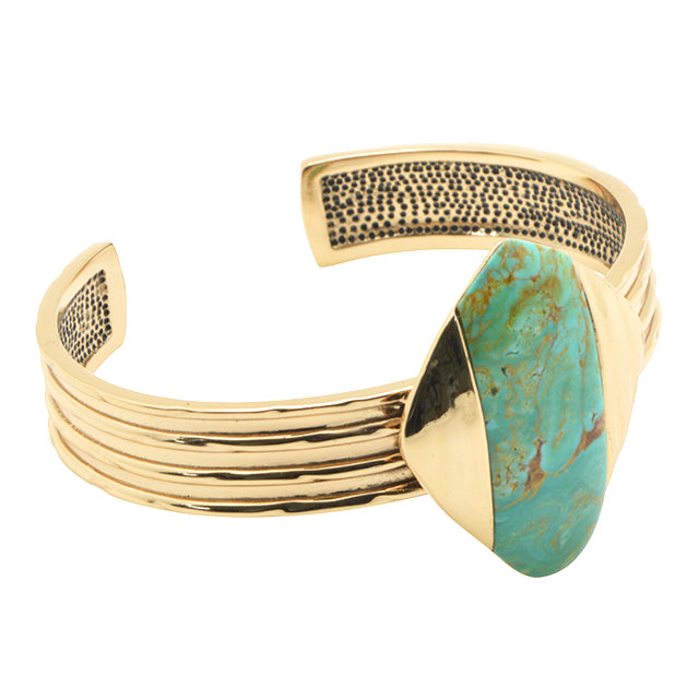 Be Brave Turquoise Cuff Bracelet