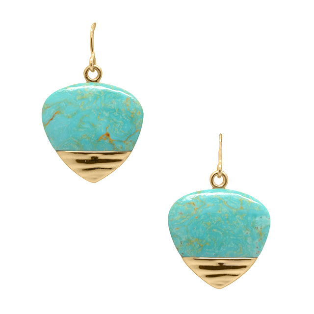 Bronze Tipped Turquoise Earring