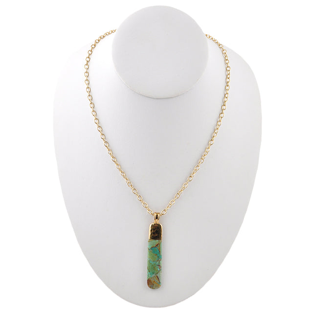 Hypnotize Me Turquoise and Bronze Necklace
