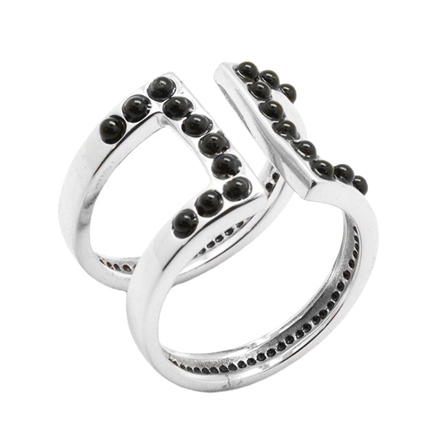Rock Band Ring-Sterling and Onyx