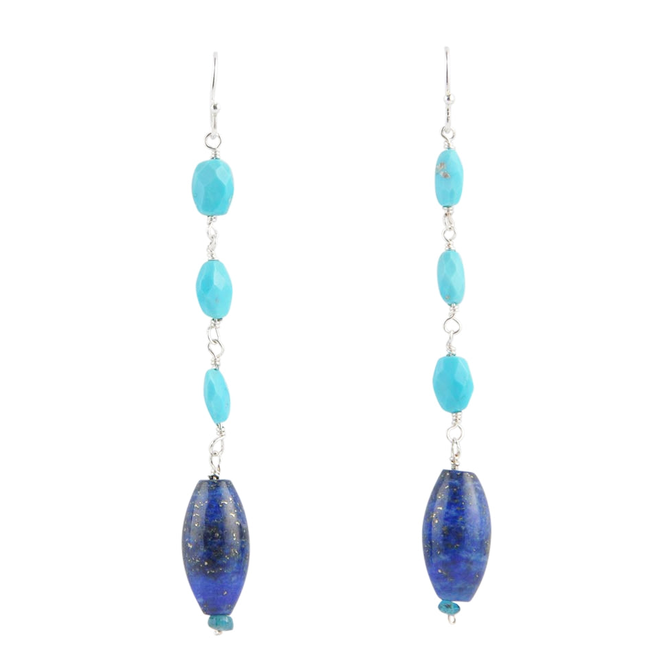 To the Point Turquoise and Lapis Earring