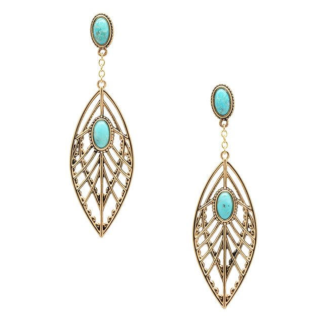 Angel Wings Earring-Turquoise