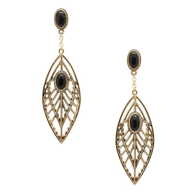 Angel Wings Earring-Black Onyx