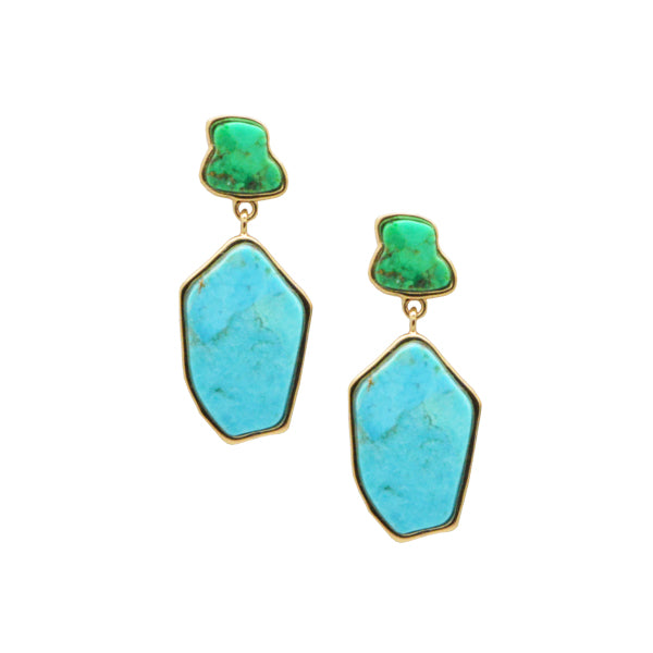 By the Pool Mixed Turquoise Earring