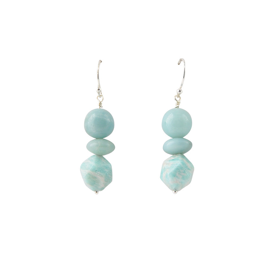 Amazonite Beaded Earring