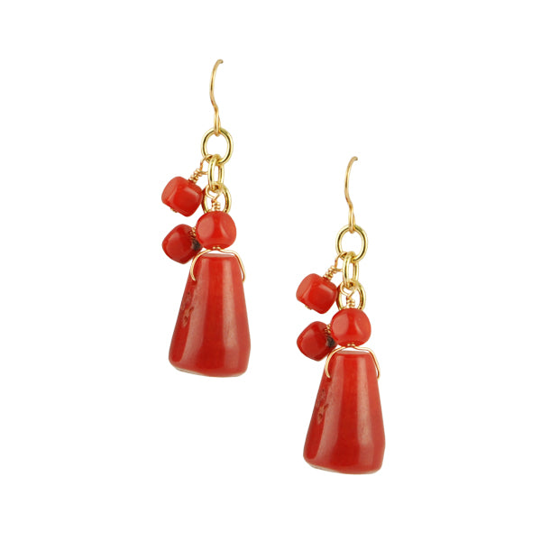 RED-dy for Anything Coral Earring