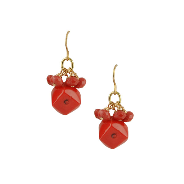 Bamboo Coral Beaded Earring