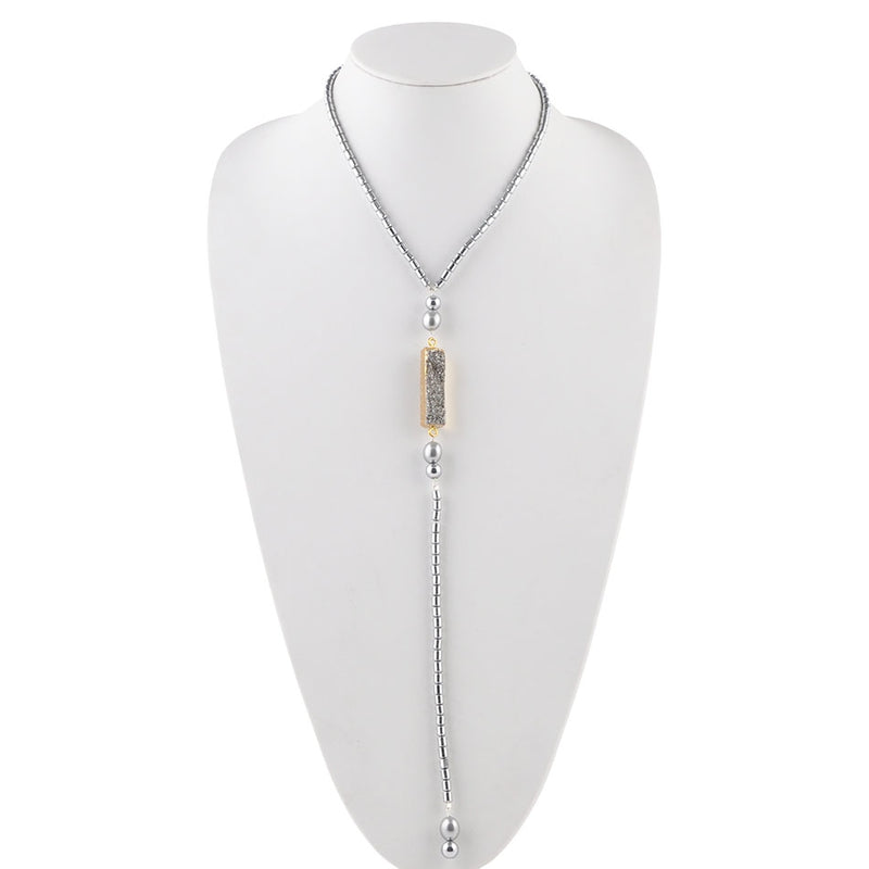 Silver City Lariat Necklace