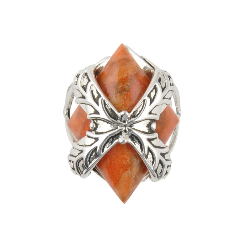Gift It To Me Sterling and Sponge Coral Ring