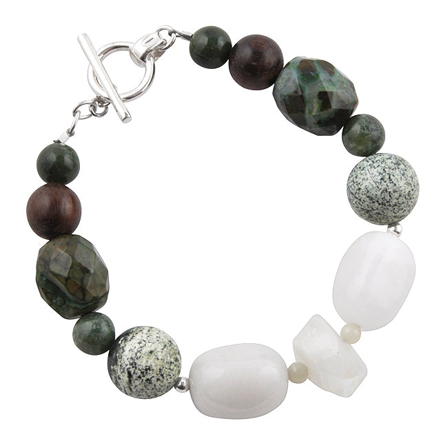 Down to Earth Stone Toggle Bracelet