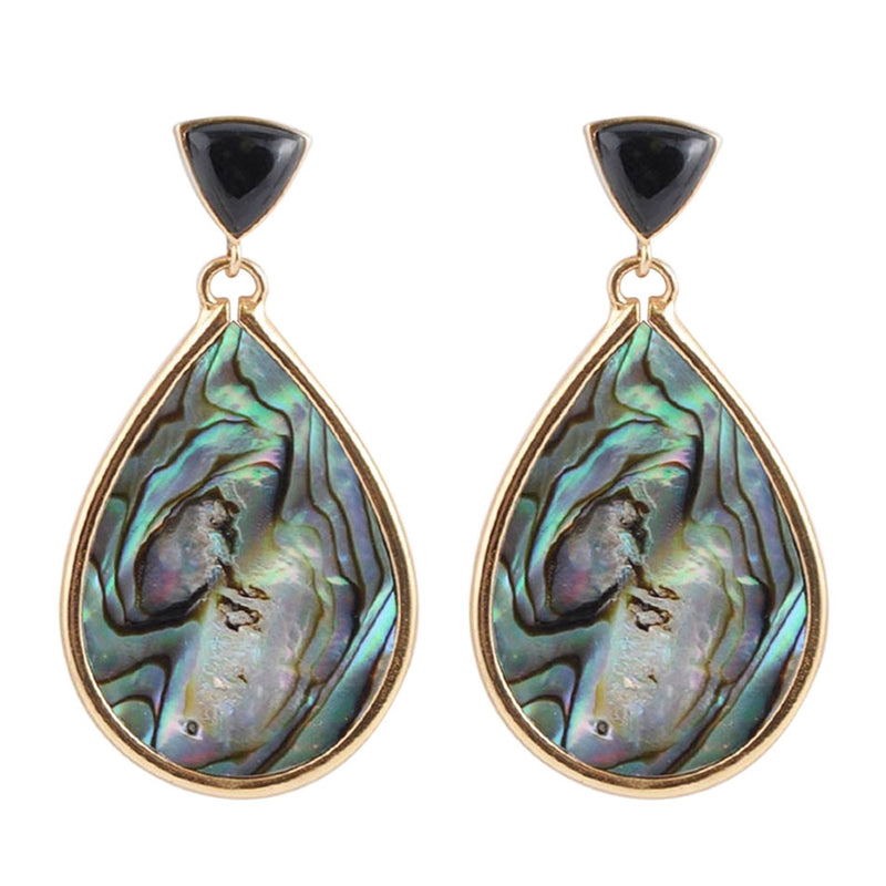 Midnight Abalone Earring