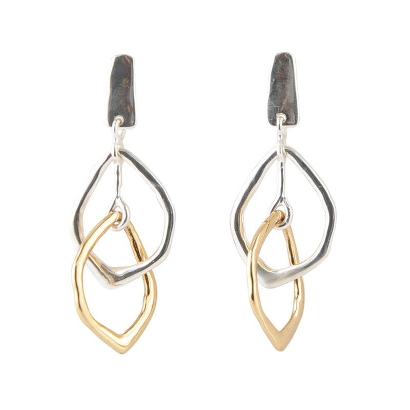 Daring Duo Bronze and Sterling Earring