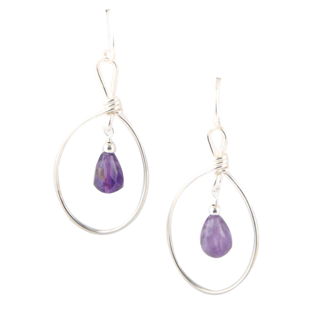 Amethyst Breeze Earring