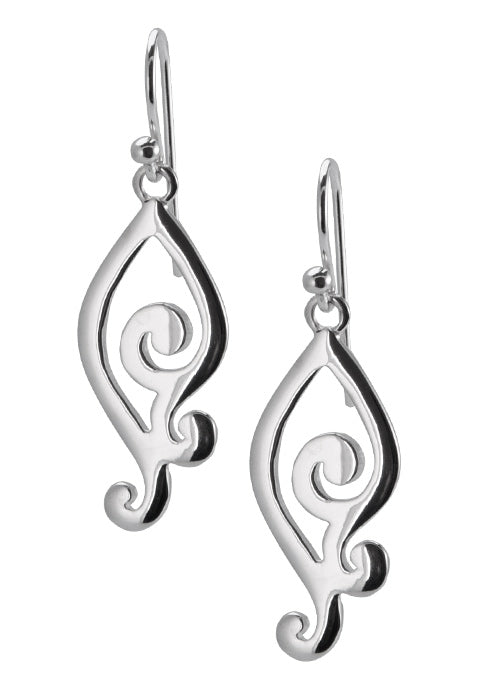 Sterling Scroll Frenchwire Earrings
