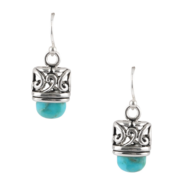 Calais Turquoise and Silver Earring
