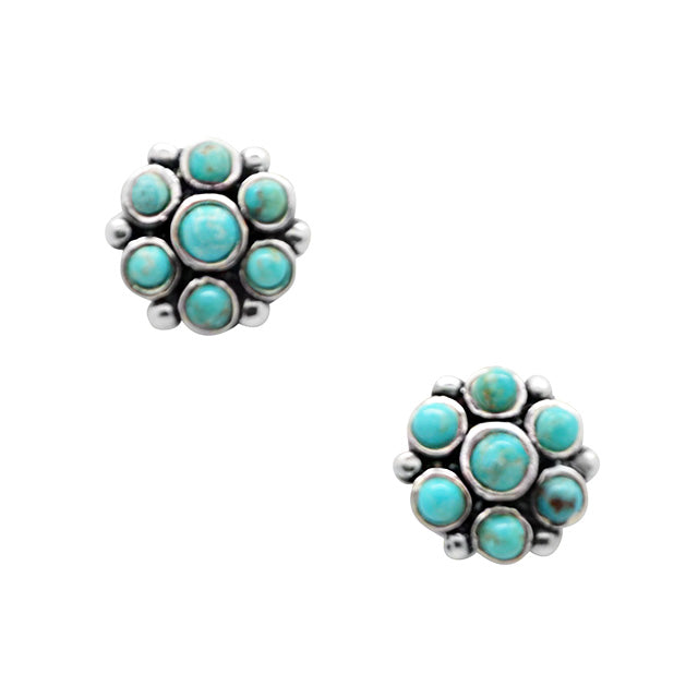 Turquoise Pompom Earring