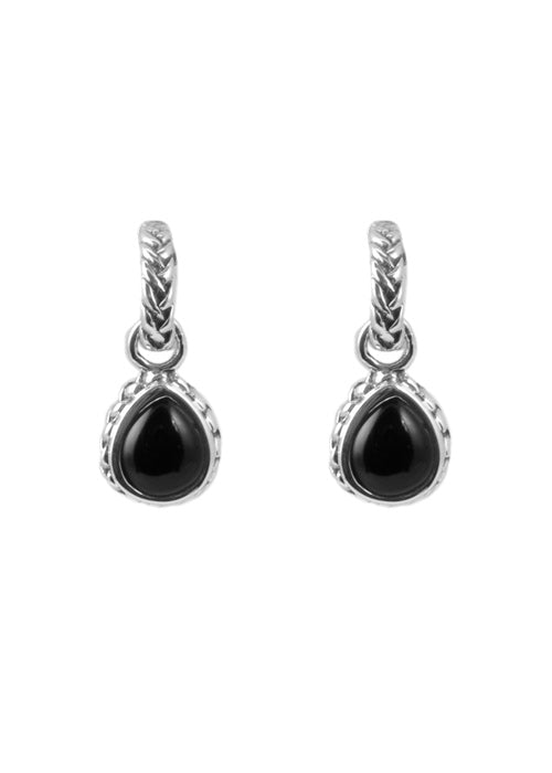 Onyx Charm Drop Earring