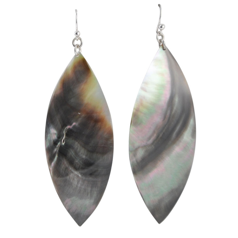 Marcel Earring- Black Mother of Pearl
