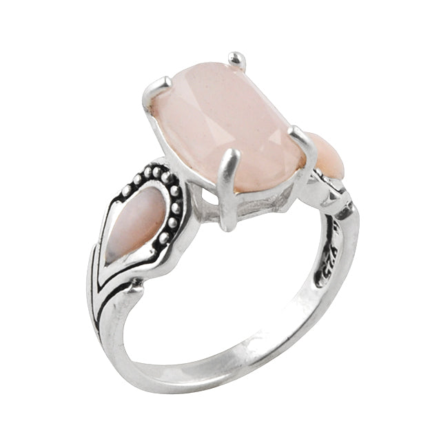 Fit To Be Queen Ring- Rose Quartz