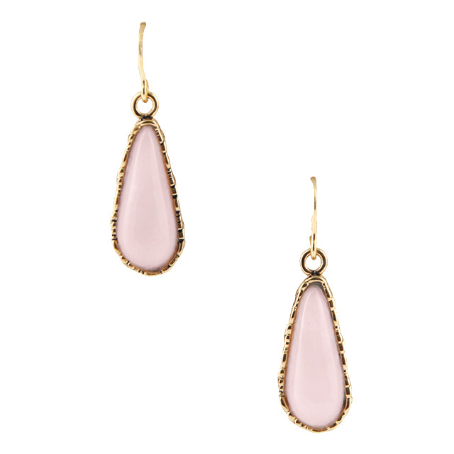 Blushing Pink Opal Drop Earring