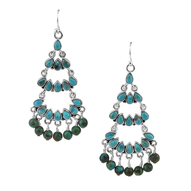 Multi-Tier Turquoise Earring