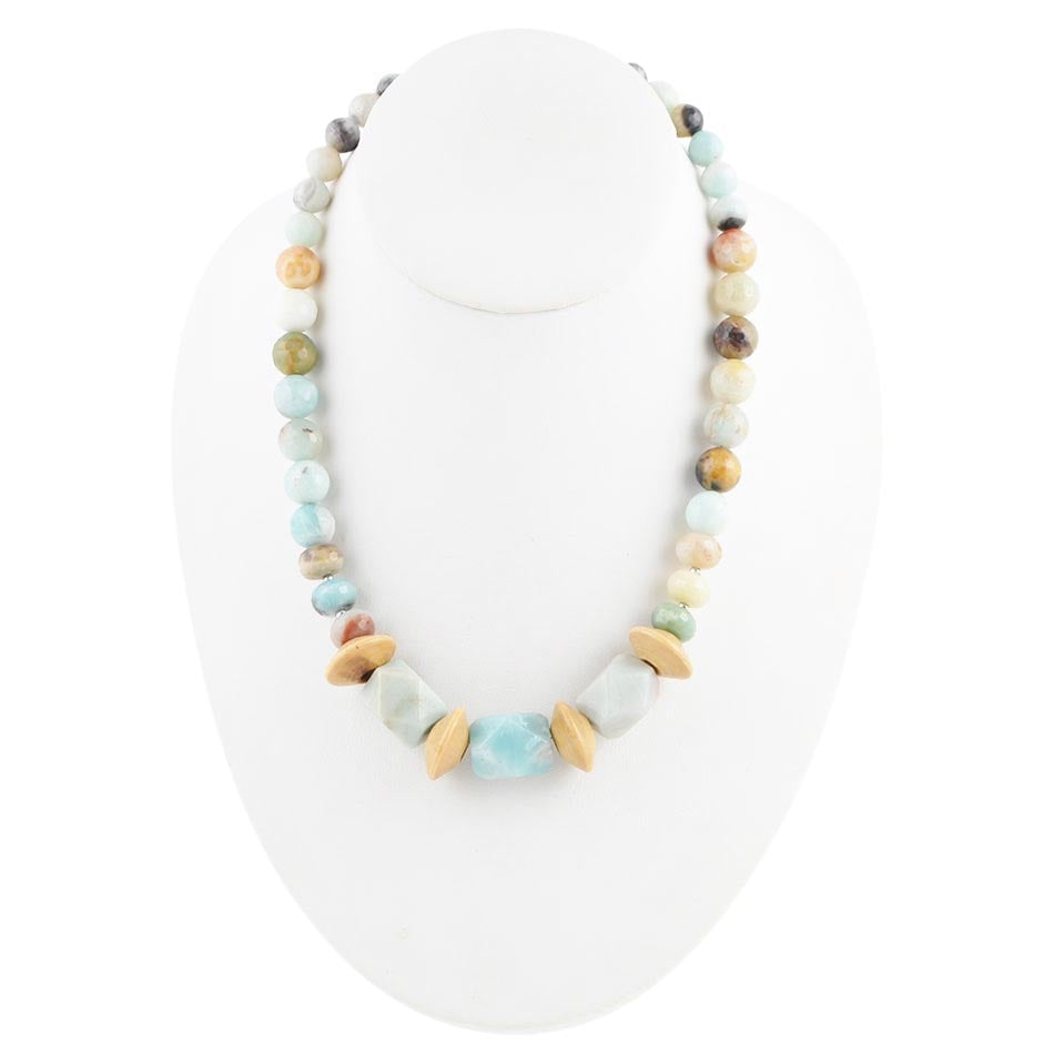Don't Reinvent the Wheel Amazonite Necklace