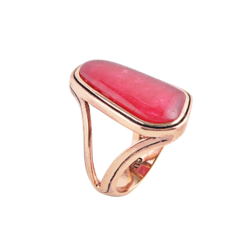 Fuchsia Agate Abstract Ring