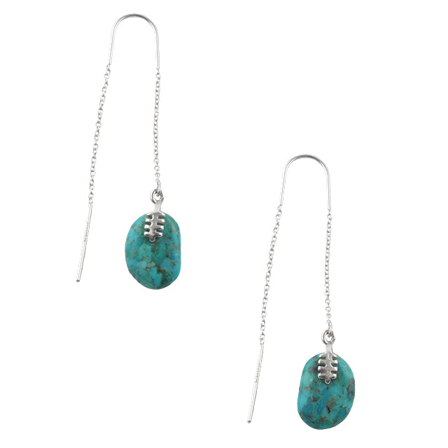 Belay On Turquoise and Silver Earring