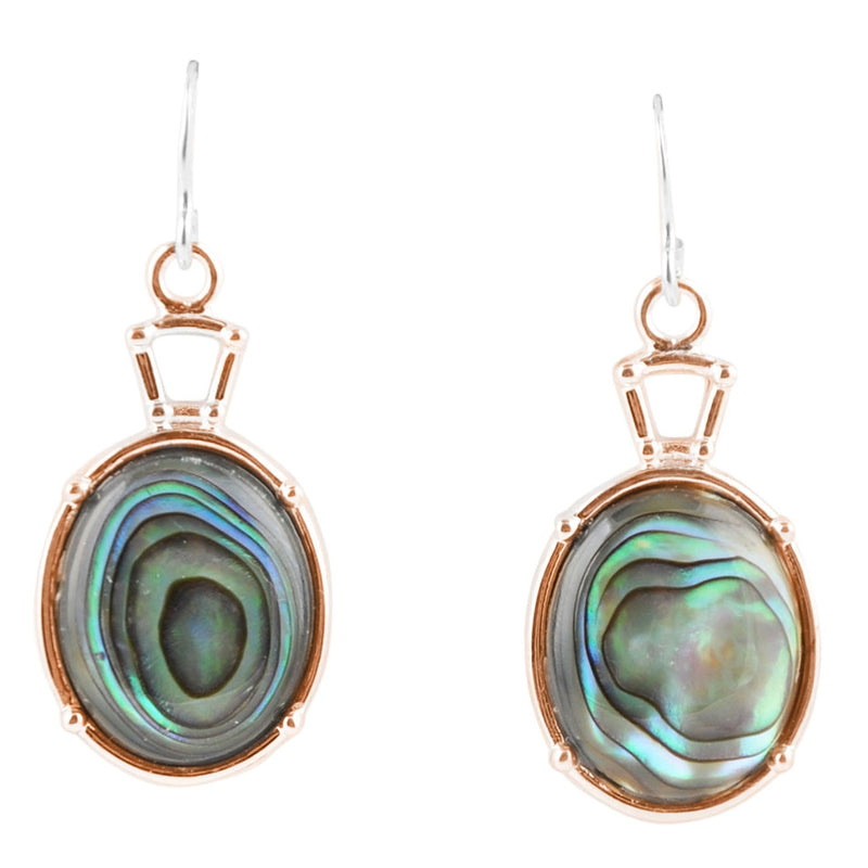 Copper and Abalone Drop Earring