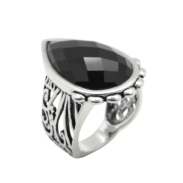 Starstruck Onyx and Silver Ring
