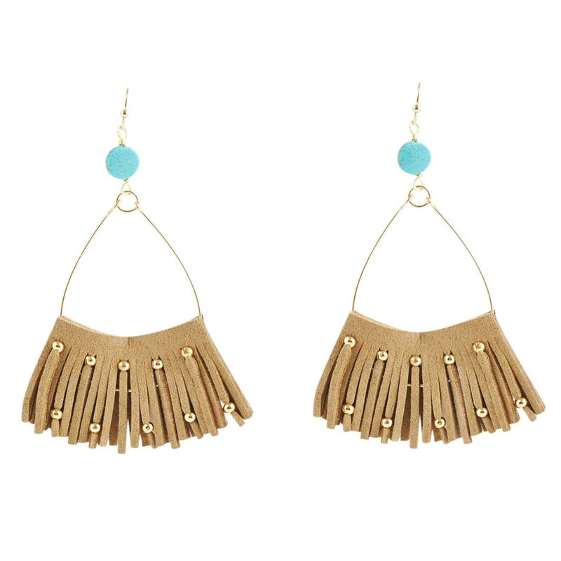 FANcy Leather Fringe Earring