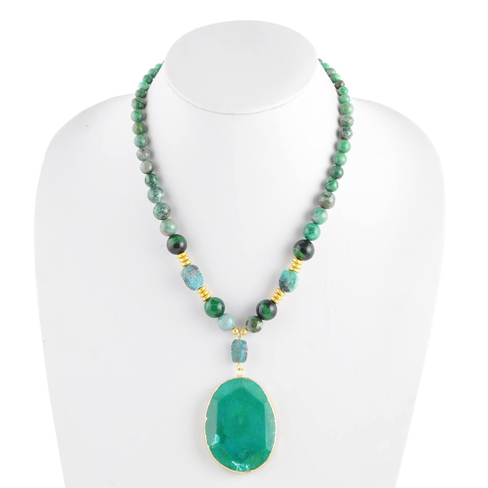 Eye of the Tiger Green Necklace