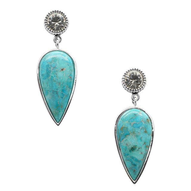 Sabrina Turquoise and Crystal Earring