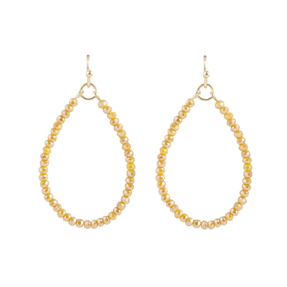 Joyful Yellow Crystal Hoop Earring