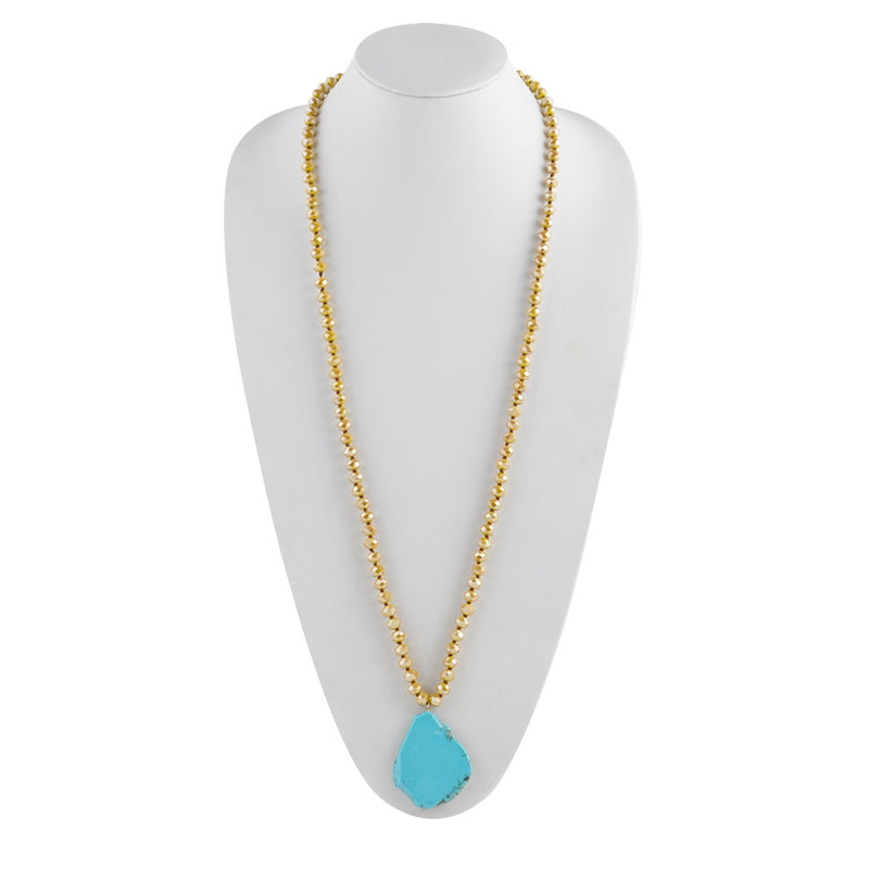 Endless Yellow and Turquoise Necklace