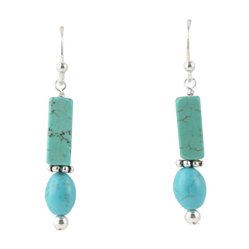 Dolca Turquoise Magnesite Earring