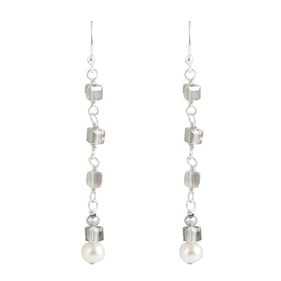 Drops of Ice Linear Earring