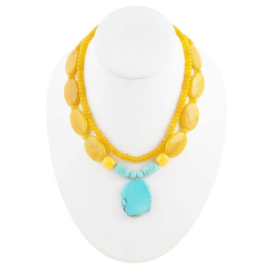 Yellow Makes Me Happy Necklace