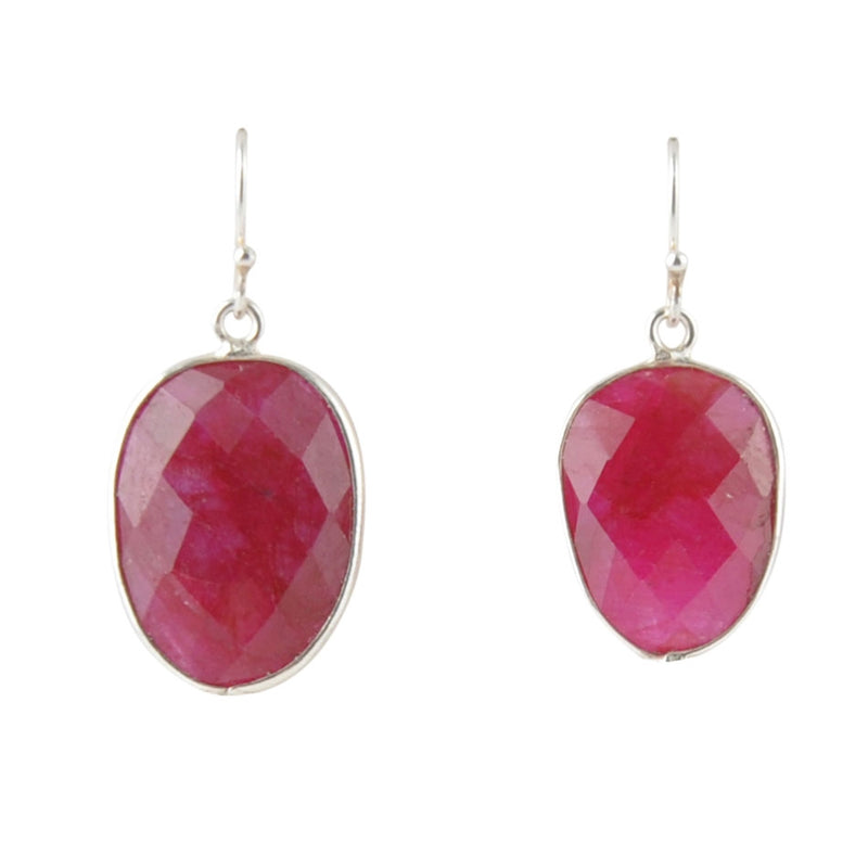 Raspberry Quartz Earring
