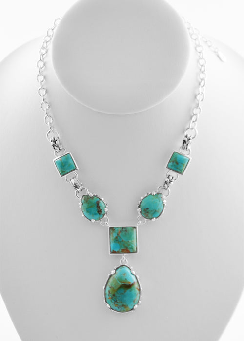 Silver Overlay and Turquoise Necklace