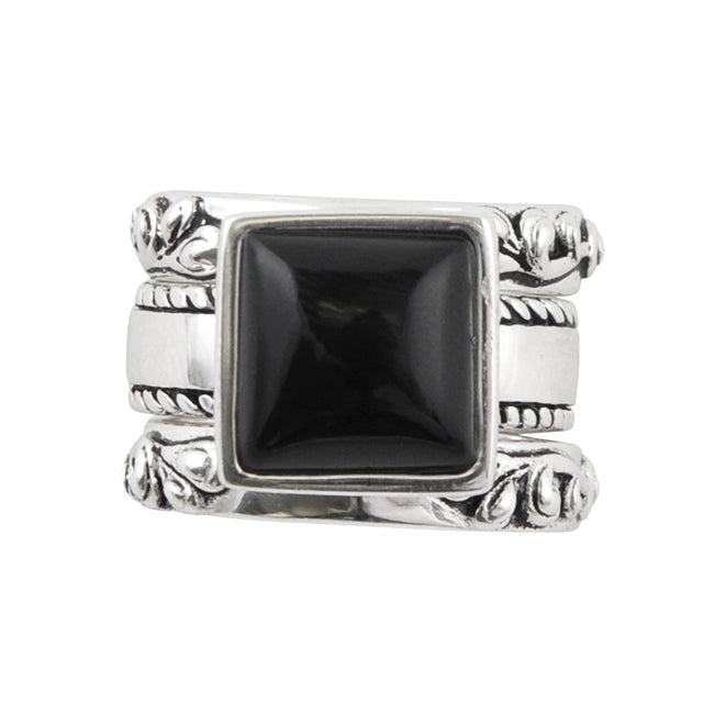 Black Onyx Ring Set